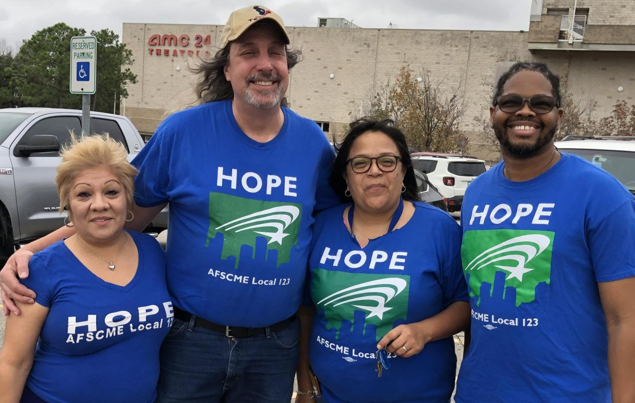 HOPE Members take action in support of AFSCME Members across the Country. Where we go one, we go all!