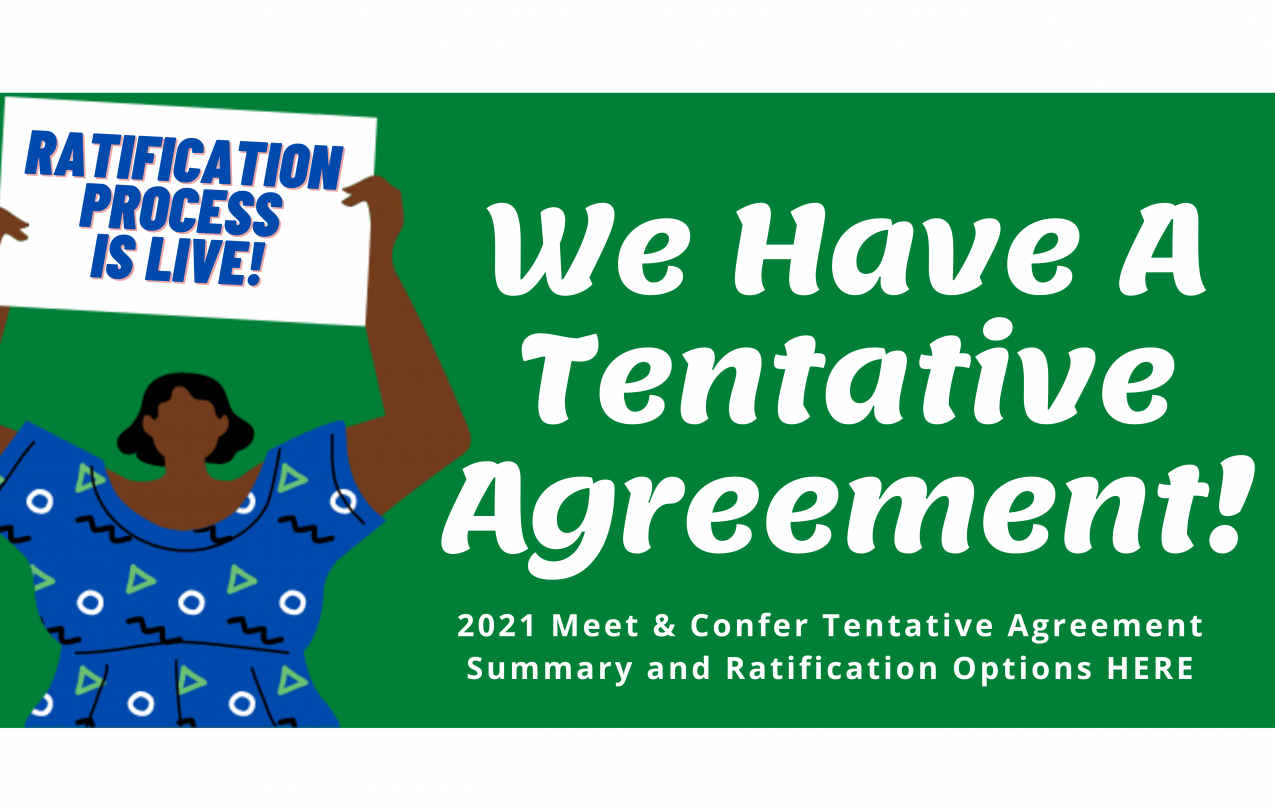 HOPE 2021 Meet and Confer NEW Tentative Agreement and Ratification Options