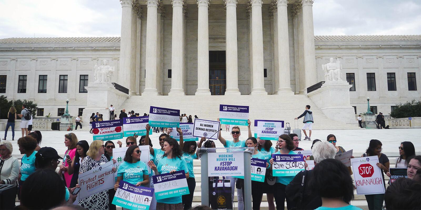 Rally on the steps of the supreme court